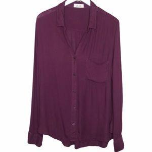 Bella Dahl button front long sleeve shirt